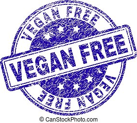 Grunge Textured VEGAN FREE Stamp Seal