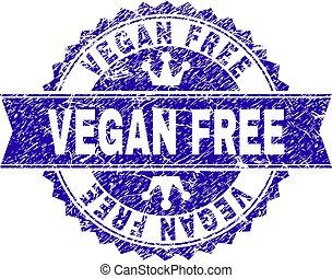 Grunge Textured VEGAN FREE Stamp Seal with Ribbon