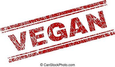 Grunge Textured VEGAN Stamp Seal - VEGAN seal print with...