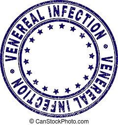 Grunge Textured VENEREAL INFECTION Round Stamp Seal