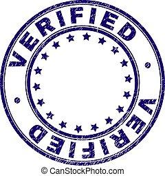 Grunge Textured VERIFIED Round Stamp Seal