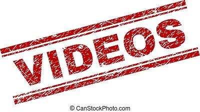 Grunge Textured VIDEOS Stamp Seal