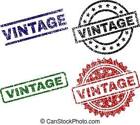 Grunge Textured VINTAGE Seal Stamps