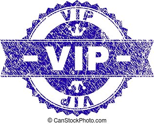 Grunge Textured VIP Stamp Seal with Ribbon