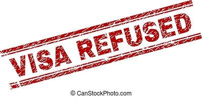 Grunge Textured VISA REFUSED Stamp Seal - VISA REFUSED seal ...