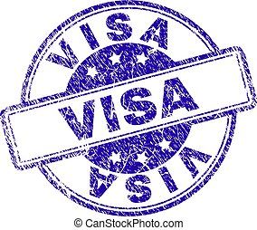 Grunge Textured VISA Stamp Seal