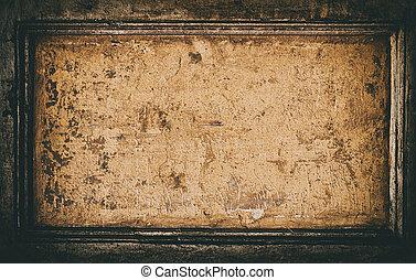 grunge, textured, wall., resistido, fundo