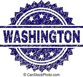 Grunge Textured WASHINGTON Stamp Seal