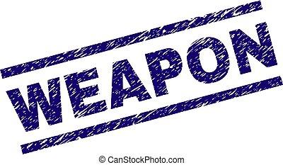 Grunge Textured WEAPON Stamp Seal