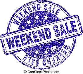 Grunge Textured WEEKEND SALE Stamp Seal