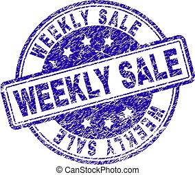 Grunge Textured WEEKLY SALE Stamp Seal