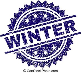 Grunge Textured WINTER Stamp Seal