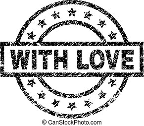Grunge Textured WITH LOVE Stamp Seal