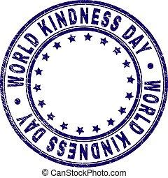 Grunge Textured WORLD KINDNESS DAY Round Stamp Seal
