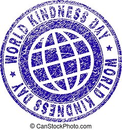 Grunge Textured WORLD KINDNESS DAY Stamp Seal