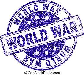 Grunge Textured WORLD WAR Stamp Seal - WORLD WAR stamp seal...