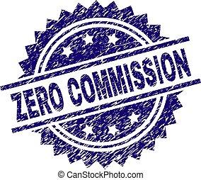 Grunge Textured ZERO COMMISSION Stamp Seal - ZERO COMMISSION...