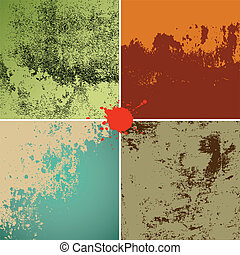 grunge textures colorful background
