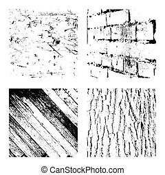 grunge textures set, vector illustration