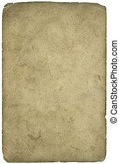 grunge, textuur, papier, af)knippen, ouderdom, (inc, path)