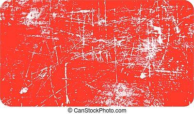 grunge, textuur, rechthoekig, rubber, vector, illustratie, horizontaal, stamp., rood