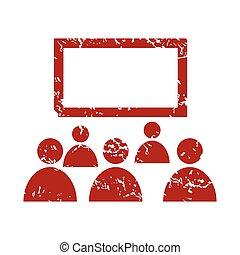 grunge, théâtre, rouges, logo