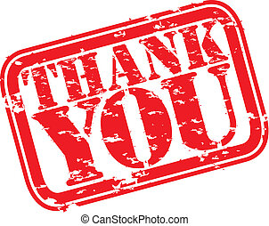 Grunge thank you rubber stamp, vect