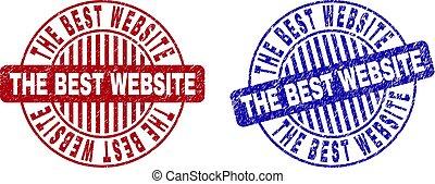 Grunge THE BEST WEBSITE Textured Round Stamp Seals