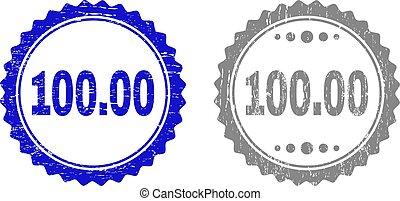 grunge, timbre, 100.00, cachets, textured, ruban