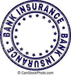 grunge, timbre, cachet, rond, textured, assurance, banque