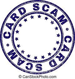 grunge, timbre, cachet, textured, scam, rond, carte