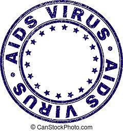grunge, timbre, cachet, virus, textured, aides, rond