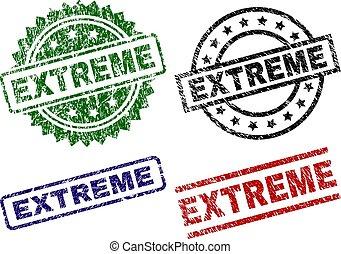 grunge, timbre, cachets, textured, extrême