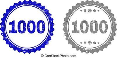 grunge, timbre, cachets, textured, ruban, 1000