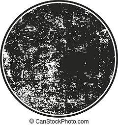 grunge, timbre, caoutchouc, arrière-plan noir, blanc