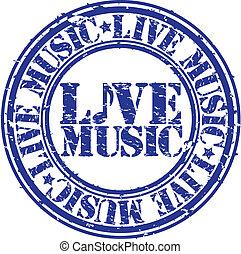 grunge, timbre, caoutchouc, musique vivante, vec