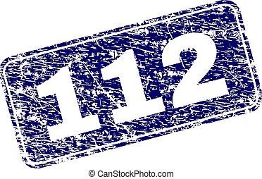 grunge, timbre, encadré, 112, arrondi, rectangle