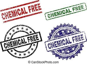 grunge, timbre, gratuite, cachets, chimique, textured