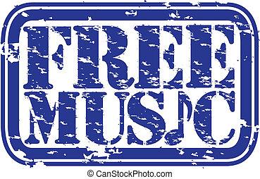 grunge, timbre, gratuite, caoutchouc, musique, vec