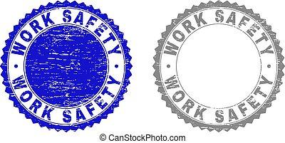 grunge, timbre, travail, cachets, sécurité, textured