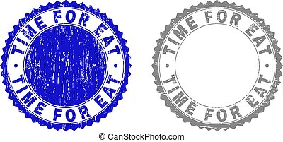 Grunge TIME FOR EAT Textured Stamp Seals