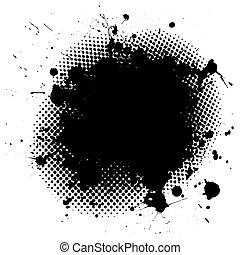 grunge, tinta, splat