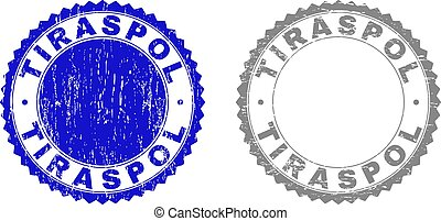 Grunge TIRASPOL Textured Stamps