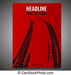 Grunge Tire Poster-05 - Vector automotive banner template....