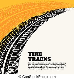 grunge tire track print marks backgroun