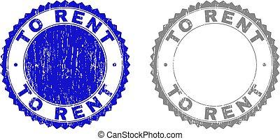 Grunge TO RENT Textured Stamp Seals