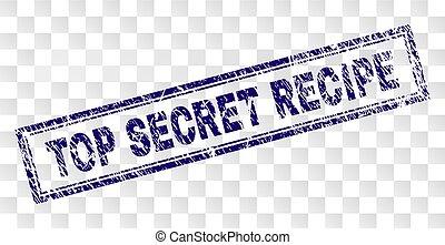 Grunge TOP SECRET RECIPE Rectangle Stamp