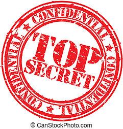 Grunge top secret rubber stamp, vector