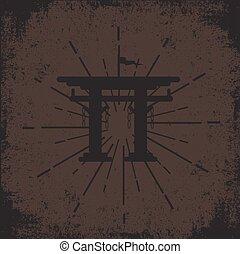 Grunge Torii Gate Background