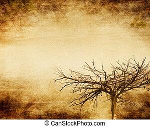 grunge, träd